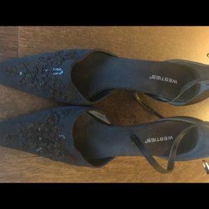 Black dressy heels Westies sz 9 1/2 M